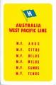 Australia-West Pacific Line - yellow - retro
