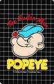 Popeye The Sailor Man - face on black - retro
